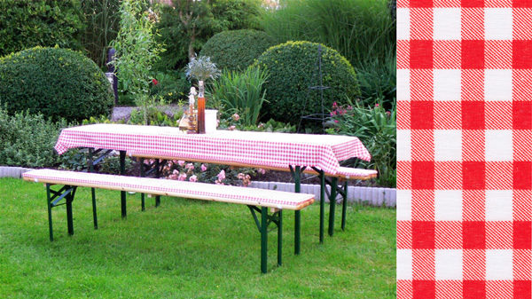 Table Cloth Cushion Set • Beer Garden Furniture