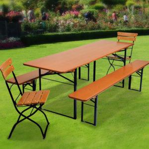 "Table and Bench Set ""Milan"" – Beer Garden Furniture"