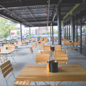 Beer Garden Tables & Chairs at Cochon Butcher and Restaurant, Nashville TN
